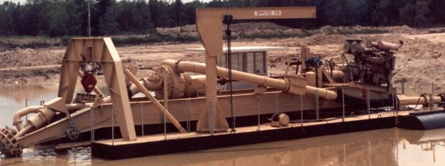 """12"""" L-Series dredge with rotary cutter"""