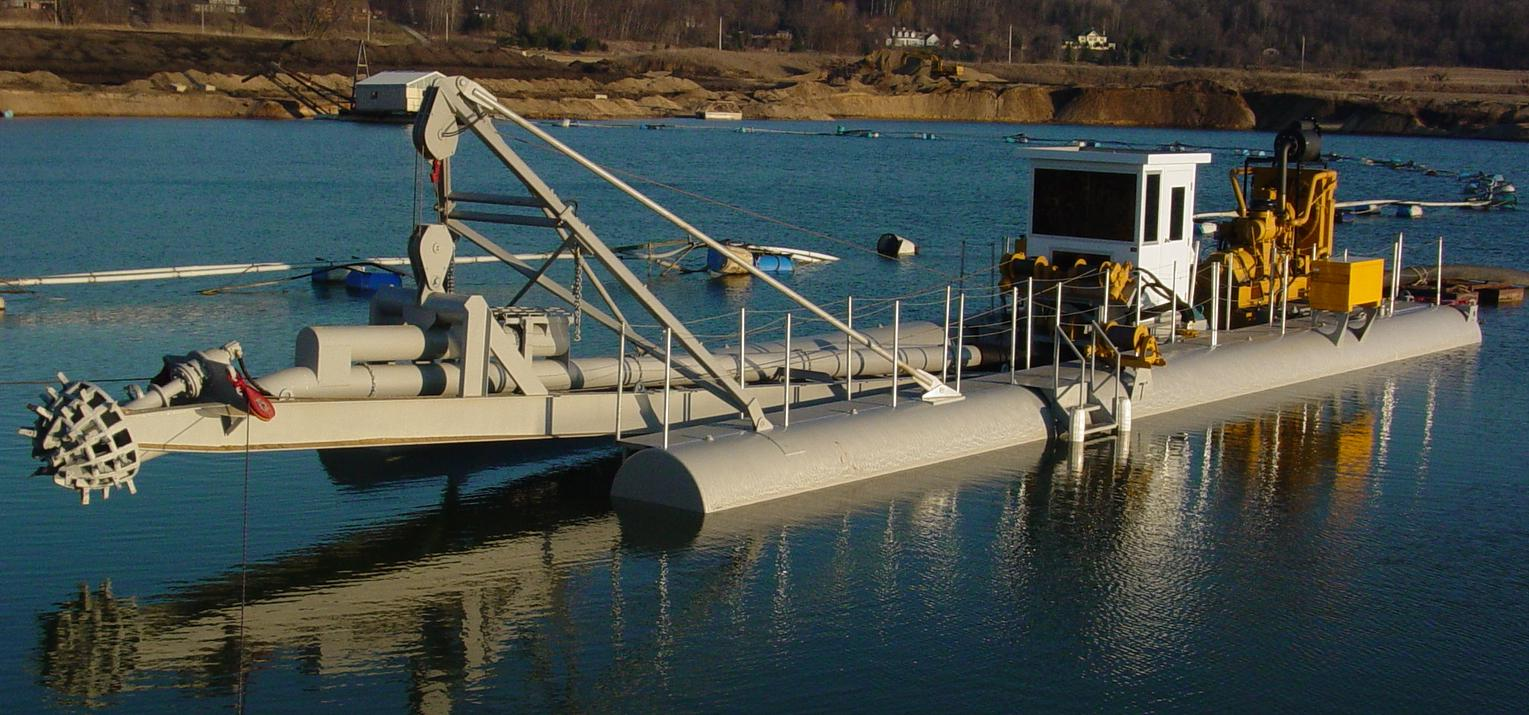 """10"""" H-Series dredge with rotary cutter"""